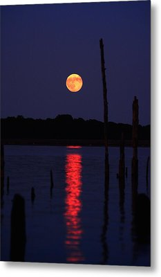 Blue Moon Metal Print by Raymond Salani III