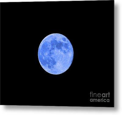 Blue Moon .png Metal Print