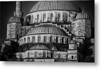 Blue Mosque Dome Metal Print by Stephen Stookey
