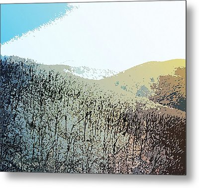 Blue Mountain Scrub Metal Print by Susan  Epps Oliver