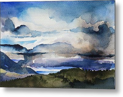 Blue Mountain Metal Print by Stephanie Aarons