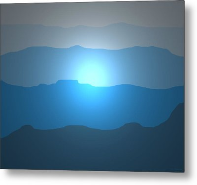 Blue Mountain Sun Metal Print by David Stasiak