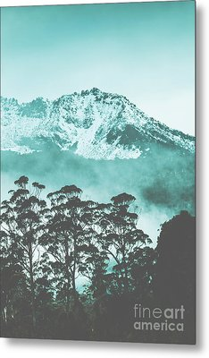 Blue Mountain Winter Landscape Metal Print by Jorgo Photography - Wall Art Gallery