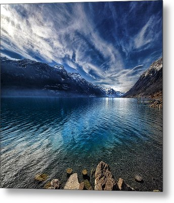 Metal Print featuring the photograph Blue Mountains by Philippe Sainte-Laudy