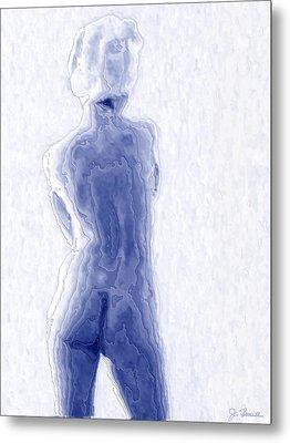 Blue Nude Metal Print by Joe Bonita