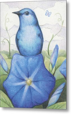 Blue On Blue Metal Print by Amy S Turner