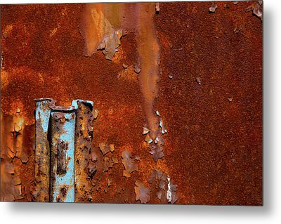 Metal Print featuring the photograph Blue On Rust by Karol Livote