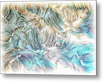 Metal Print featuring the photograph Blue Palette by Athala Carole Bruckner