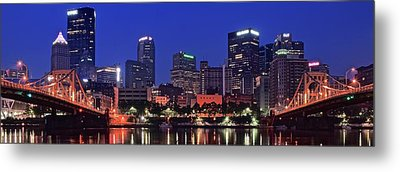 Blue Panoramic Metal Print by Frozen in Time Fine Art Photography