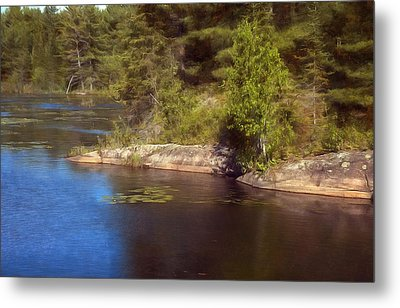 Blue Pond Marsh Metal Print
