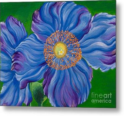 Blue Poppies Metal Print by Sweta Prasad