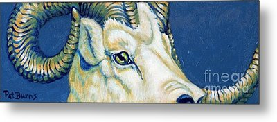 Blue Ram Metal Print by Pat Burns