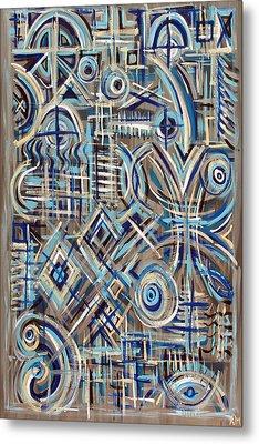 Blue Raucous Metal Print