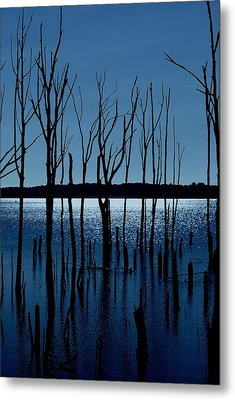 Blue Reservoir - Manasquan Reservoir Metal Print by Angie Tirado