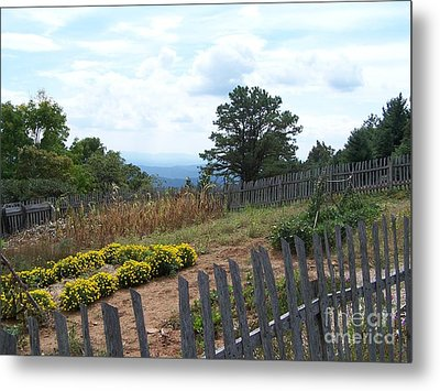 Blue Ridge Garden Metal Print by Randy Edwards