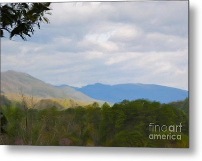 Metal Print featuring the painting Blue Ridge Mountain by Jan Daniels