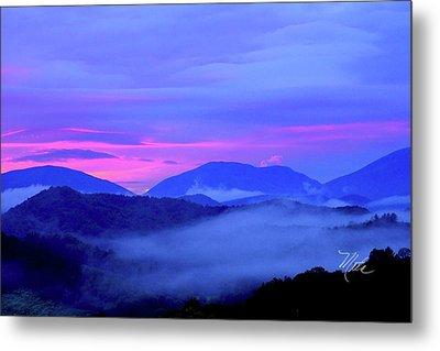 Blue Ridge Mountains Sunset Metal Print