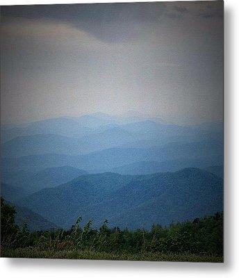 Blue Ridge Parkway Silhouette Metal Print by Jen McKnight