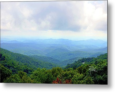 Blue Ridge Parkway Overlook Metal Print by Meta Gatschenberger