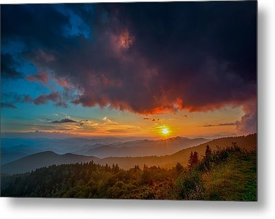 Metal Print featuring the photograph Blue Ridge Sunset by Joye Ardyn Durham