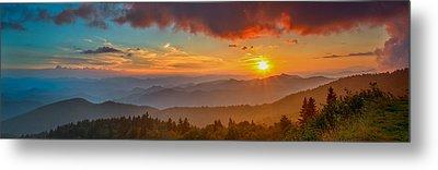 Blue Ridge Sunset Pano Metal Print