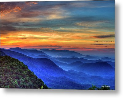 Metal Print featuring the photograph Blue Ridges 2 Pretty Place Chapel View Great Smoky Mountains Art by Reid Callaway