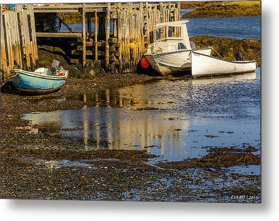 Blue Rocks, Nova Scotia Metal Print by Ken Morris
