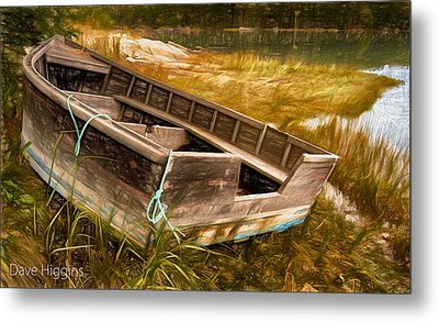 Blue Rope, Barter's Island, Maine Metal Print by Dave Higgins