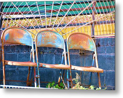 Blue Rust Metal Print by Jan Amiss Photography