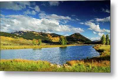 Metal Print featuring the photograph Blue Skies Over Crested Butte by John De Bord