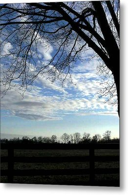 Blue Skies Smiling At Me Metal Print
