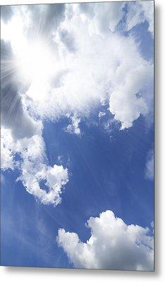 Blue Sky And Cloud Metal Print