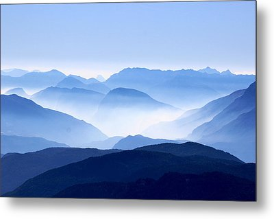 Blue Smoky Mountains Metal Print by Design Turnpike