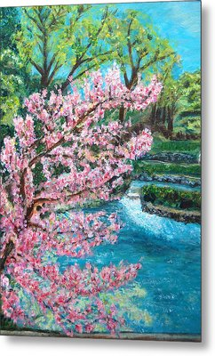 Blue Spring Metal Print by Carolyn Donnell
