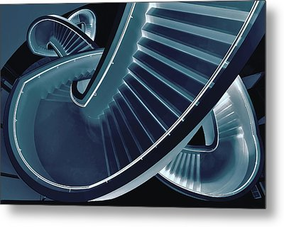 Blue Stair Metal Print