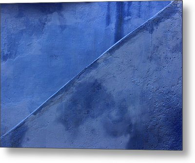 Metal Print featuring the photograph Blue Stairs In Profile by Ramona Johnston