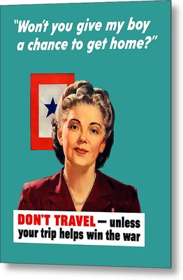 Blue Star Mother -- Ww2 Metal Print by War Is Hell Store