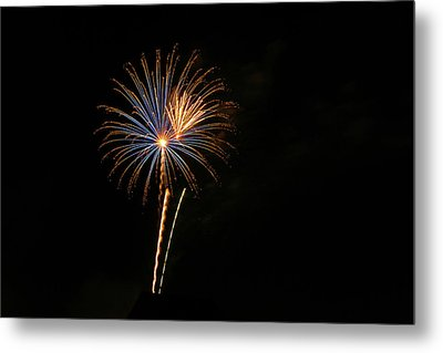 Metal Print featuring the photograph Blue Star When I Am Blue by Larry Bishop