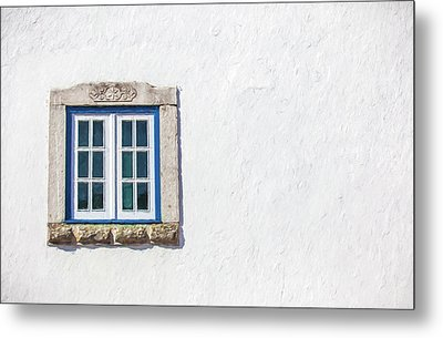 Blue Stone Window Of Obidos Metal Print