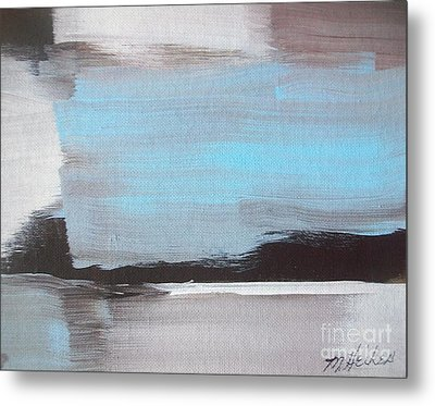 Blue Streak Metal Print by Marsha Heiken