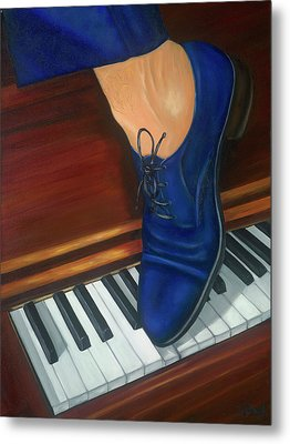Blue Suede Shoes Metal Print by Marlyn Boyd