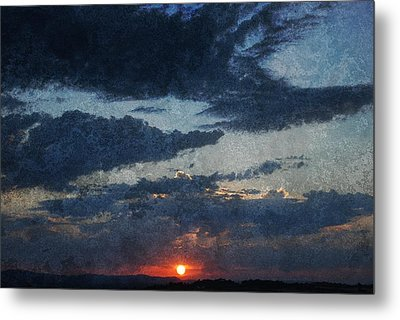 Blue Sunset Metal Print by Dorothy Berry-Lound