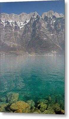 Blue Swiss Lagoon Metal Print by Pierre Leclerc Photography