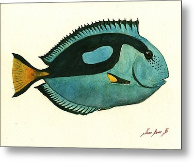 Blue Tang Fish Metal Print by Juan Bosco