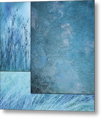 Blue Textures 1 Metal Print