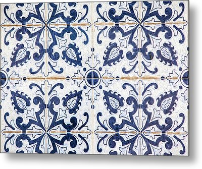 Blue Tile Of Portugal Metal Print