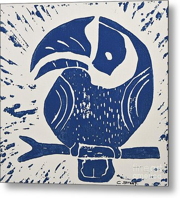 Blue Toucan Metal Print