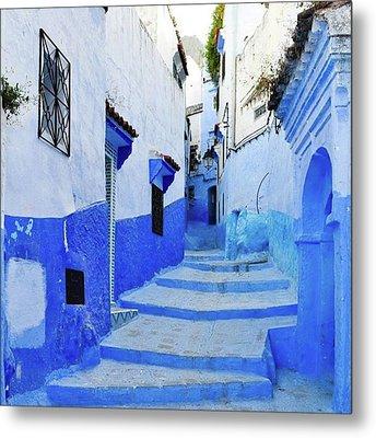 Blue Town(morocco) #mytravelgram Metal Print by Seiji Hori