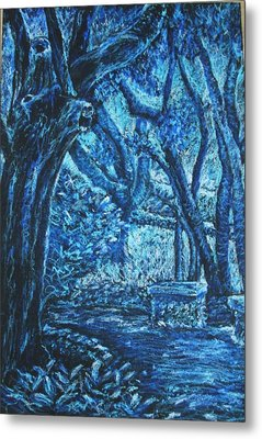 Blue Trees Metal Print by Patricia Gomez