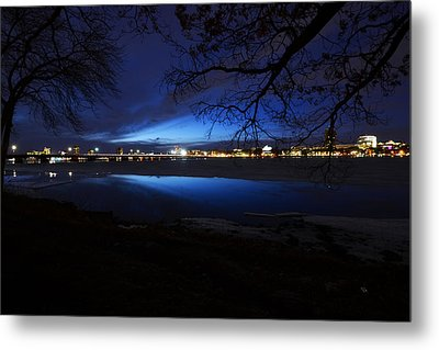 Blue Twilight Over The Charles River Metal Print by Toby McGuire